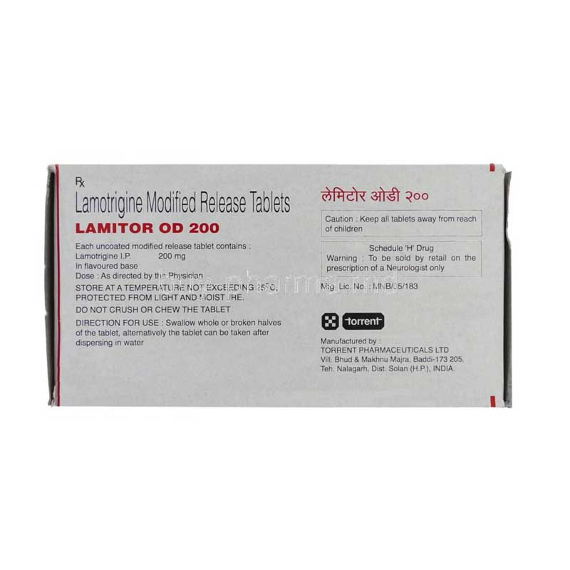 Lamitor Od 200mg Name Patient Medical Supply